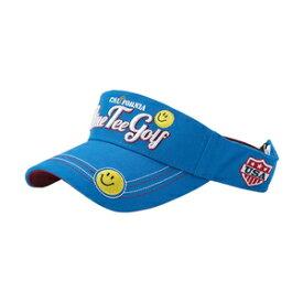 VS-001 BL ブルーティーゴルフ コットンバイザー スマイル(ブルー・サイズ:フリー 目安:57〜59cm) BLUE TEE GOLF