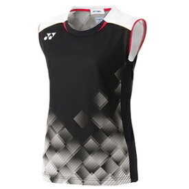 YO-20536-007-XO ヨネックス レディース ゲームシャツ(ノースリーブ)(ブラック・サイズ:XO) YONEX WOMEN'S GAME SHIRTS