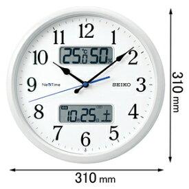 ZS-251-W セイコークロック 電波掛け時計 ハイブリッド電波掛時計 NexTime(ネクスタイム)白パール [ZS251W]【返品種別A】