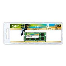 SP008GLSTU160N02 シリコンパワー PC3L-12800(DDR3L-1600)204pin DDR3 SDRAM S.O.DIMM 8GB
