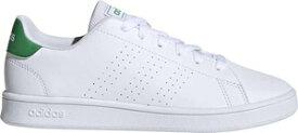 AJ-EF0213-220 アディダス ジュニア カジュアルシューズ(フットウェアホワイト/グリーン/グレーツー・サイズ:22.0cm) adidas 子供用 アドバンテージ [ADVANTAGE SHOES]