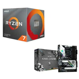100-25BOX/X570ATX-A AMD AMD Ryzen7 3800X + ASRock X570 STEEL LEGEND【お買得限定パック】