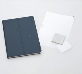 PC-AC-AD015C NEC LAVIE Tab E TE710/KAW(PC-TE710KAW)用 カバー&保護フィルム(ネイビーブルー)