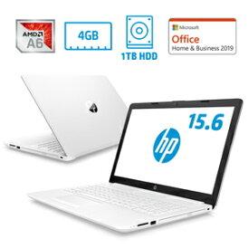 7WN80PA-AAAA HP(エイチピー) 15.6型ノートパソコン HP 15-db0242AU-OHB ピュアホワイト (A6/4/1TB/H&B 2019)