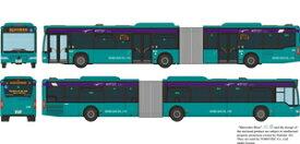[鉄道模型]トミーテック (N) ザ・バスコレクション 京成バス連節バス シーガル幕張4825号車