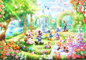 ディズニー バラの香りのガーデンパーティー ピュアホワイト 1000ピース ジグソーパズル テンヨー 【Disneyzone】