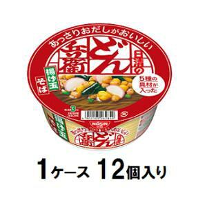 日清のあっさりおだしがおいしいどん兵衛 5種の具材が入った揚げ玉そば 70g(1ケース12個入) 日清食品 ドンベエアゲダマソバ70X12