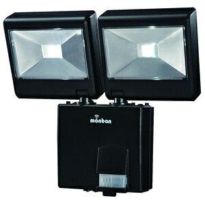 LS-B224D-K オーム 乾電池式LEDセンサーライトLED(2W×2灯) OHM [LSB224DK]