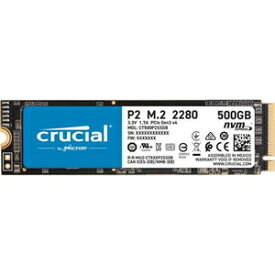 CT500P2SSD8JP Crucial Crucial M.2 2280 NVMe PCIe Gen3x4 SSD P2シリーズ 500GB