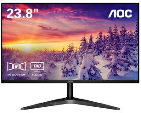 24B1XH/11 AOC 23.8型 フルHD IPS 液晶ディスプレイ (HDMI x1 / D-Sub x1)