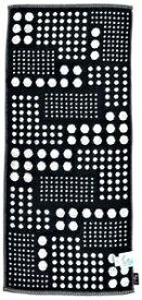 FU5085/BK 日繊商工 ベリードッツ フェイスタオル(ブラック) fufu mono form [FU5085BK]