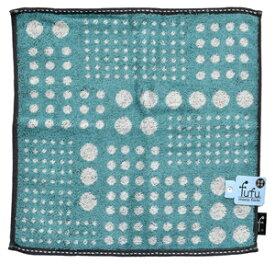 FU3085/B 日繊商工 ベリードッツ ウォッシュタオル(ブルー) fufu mono form [FU3085B]