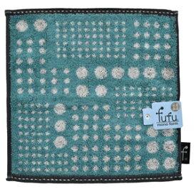 FU30185/B 日繊商工 ベリードッツ タオルチーフ(ブルー) fufu mono form [FU30185B]