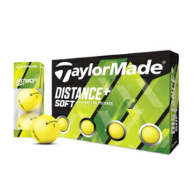 TM-DISSFT-12P-YE テーラーメイド ディスタンス+ ソフト ゴルフボール 1ダース12個入り(イエロー) TaylorMade DISTANCE+ SOFT BALL