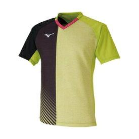 82JA001137XL ミズノ 卓球用ゲームシャツ(ユニセックス)(ライムグリーン・サイズ:XL) MIZUNO 2020卓球日本代表モデル