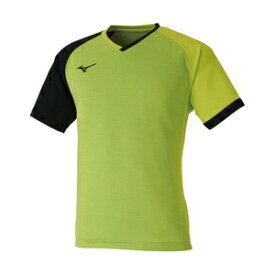 82JA000337XL ミズノ 卓球用ゲームシャツ(ユニセックス)(ライムグリーン×ブラック・サイズ:XL) MIZUNO 82JA0003