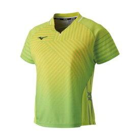 82JA920137XL ミズノ 卓球用ゲームシャツ(レディース)(ライムグリーン・サイズ:XL) MIZUNO 2019卓球女子日本代表モデル