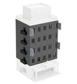 [鉄道模型]グリーンマックス (Nゲージ)2610 着色済み ビジネスビル(ブラックグレー)増設4階分