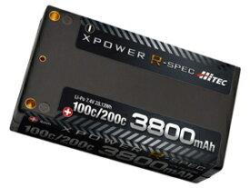 XPOWER R-SPEC Li-Po 7.4V 3800mAh 100C/200C【XPR3800S】 ラジコンパーツ ハイテックマルチプレックスジャパン