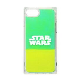 PG-DLQ20M15SW PGA iPhone SE(第2世代)/ 8 / 7 / 6s / 6用 SW ネオンサンドケース(ロゴ/グリーン&イエロー)
