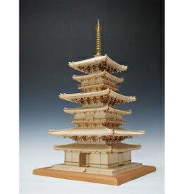 1/75 木製模型 建築 薬師寺 東塔(改良版) 木製組立キット ウッディジョー