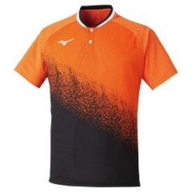 62JA050154L ミズノ ゲームシャツ(オレンジ×ブラック・サイズ:L) MIZUNO 62JA0501 ユニセックス