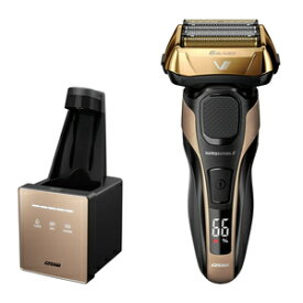 IZF-V990-N イズミ メンズシェーバー【6枚刃】【自動洗浄器付】(ゴールド) IZUMI Z-DRIVE(ハイエンドシリーズ) [IZFV990N]