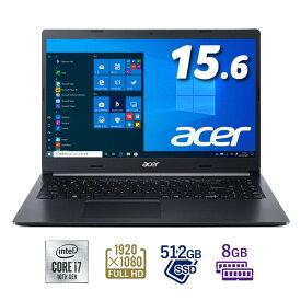 A515-55-A78YJ/F Acer(エイサー) 15.6型ノートパソコン Aspire 5 チャコールブラック (Core i7/8GB/512GB)