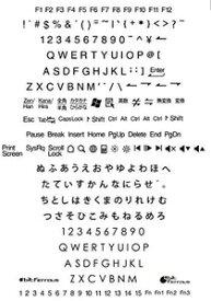 DYKTSBK ビット・トレード・ワン 日英対応転写式キートップシールセット(黒字) BitTradeOne