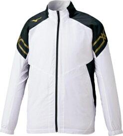 32ME063101S ミズノ ブレスサーモジャケット(ホワイト×ゴールド・サイズ:S) mizuno ユニセックス