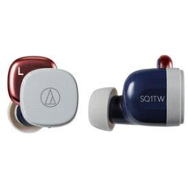 ATH-SQ1TW-NRD オーディオテクニカ 完全ワイヤレス Bluetoothイヤホン(ネイビーレッド) audio-technica