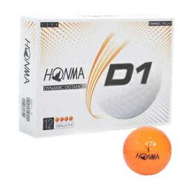 HONMA-BT2001L OR 本間ゴルフ ゴルフボール HONMA D1ボール(2020年モデル)1ダース 12個入り(オレンジ) ローナンバー D1 2020 model