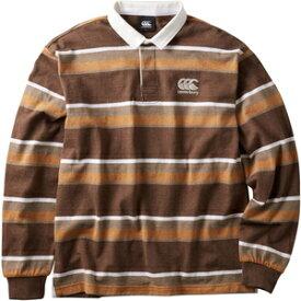 CCC-RA40583-60-L カンタベリー ユニセックス ロングスリーブ ラガーシャツ(ブラウン・サイズ:L) CANTERBURY L/S RUGGER SHIRT