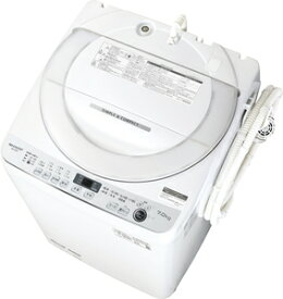 (標準設置料込)洗濯機 一人暮らし 7kg ES-GE7E-W シャープ 7.0kg 全自動洗濯機 ホワイト系 SHARP [ESGE7EW]