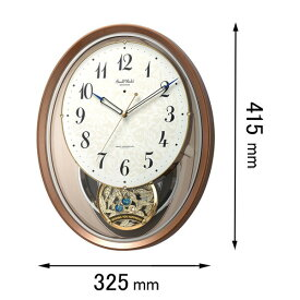 4MN555RH06 リズム 電波掛け時計 スモールワールドエアルN [4MN555RH06]【返品種別A】