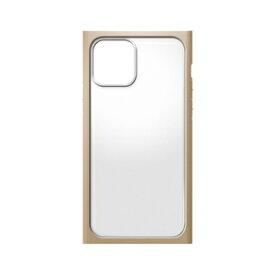 PG-20FGT07BE PGA iPhone 12 mini用 ガラスタフケース スクエア Premium Style(ベージュ)