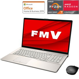 FMVN77E3G 富士通 17.3型ノートパソコン FMV LIFEBOOK NH77/E3 - シャンパンゴールド (Ryzen 7/8GB/256GB)Microsoft Office Home & Business 2019