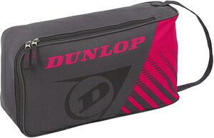 DUN-DTC2038-037 ダンロップ シューズケース(グレー×ピンク) DUNLOP CLUB LINE