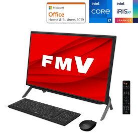 FMVF77E3B 富士通 23.8型デスクトップパソコン FMV ESPRIMO FH77/E3 (Core i7/ 8GB/ 256GB SSD+1TB HDD/ BDドライブ/ TV機能)Microsoft Office Home & Business 2019