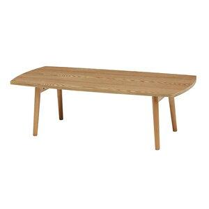 MT-6423NA HAGIHARA(萩原) 天然木折れ脚テーブル(ナチュラル・幅110×奥行48×高さ35cm) [MT6423NA]