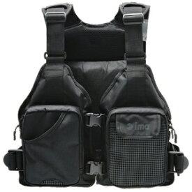 #T-LJ003 アムズデザイン ima ミニマリストベスト フリーサイズ(ブラック) ima フローティングベスト