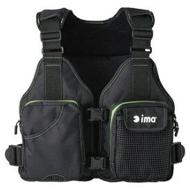 #T-LJ004 アムズデザイン ima ミニマリストベスト フリーサイズ(ブラック/グリーン) ima フローティングベスト