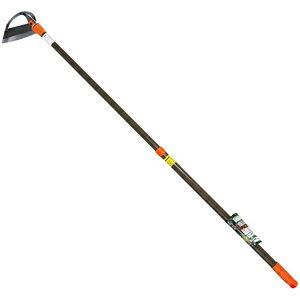 174001 華園 可変伸縮 立鎌 Z鋼 伸縮式パイプ柄(210mm)