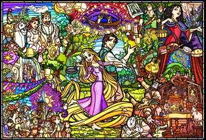 塔の上のラプンツェル ストーリー ステンドグラス ステンドアート ぎゅっと500ピース ジグソーパズル テンヨー 【Disneyzone】
