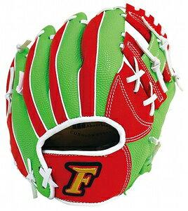 FG-1201 サクライ貿易 少年軟式野球用グラブ(レッド×グリーン・サイズ:Jr-S) FALCON ファルコン 小学校低学年向け