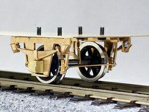 [鉄道模型]ワールド工芸 (12mmゲージ) 1/87 単軸台車 長軸一段リンク 貨車票さし付き (車輪別) 組立キット