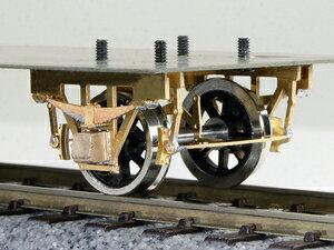 [鉄道模型]ワールド工芸 (12mmゲージ) 単軸台車 長軸シュー式 貨車票さし付き (車輪別) 組立キット
