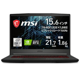 GF65-10UE-219JP MSI GF65 Thin 10U(Core i7/ 16GB/ 512GB SSD/ RTX 3060)【Joshinオリジナル】 15.6型ゲーミングノートパソコン