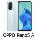 CPH2199IB(RENO5A) OPPO(オッポ) OPPO Reno5 A(SIMフリー版)- アイスブルー 6.5インチ/ RAM 6GB/ ROM 128GB/ 5G対…