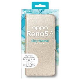 AC-R5ASHYBE エアージェイ OPPO Reno5 A シャイニー手帳型ケース カードポケット2個付き BE